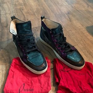 Christian Louboutin Metallic Leather Hi Top Shoes